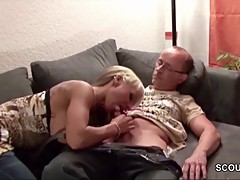 Step-Dad Seduce Young German Girl to Fuck when Mom Away